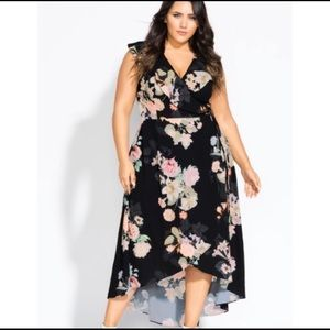 City Chic Midsummer Wrap Floral Maxi Dress